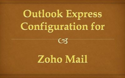 How to Configure Zoho Mail on Microsoft Outlook Express